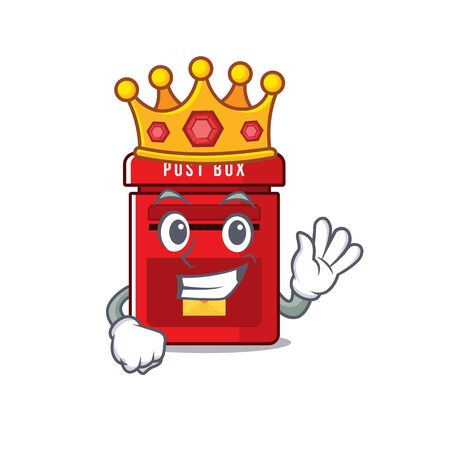 mailbox with a the mascot cartoon king vector illustration