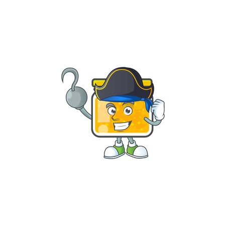Sweet jam cartoon character with mascot pirate vector illustration