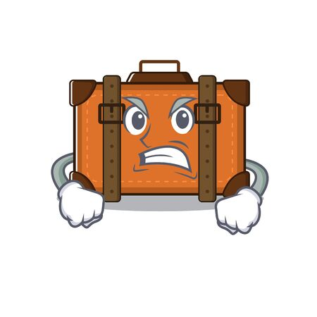 suitcase happy angry on a with character vector illustration Ilustrace