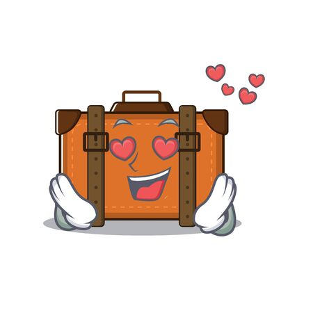 suitcase happy in love on a with character vector illustration Illusztráció