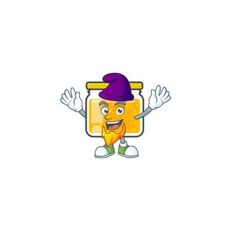 Sweet jam cartoon character with mascot elf vector illustration Ilustrace