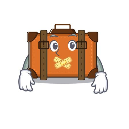 suitcase with in the cartoon silent shape vector illustration