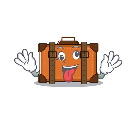 suitcase with in the cartoon bring gift shape vector illustration 向量圖像