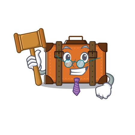 suitcase with in the cartoon judge shape vector illustration 向量圖像