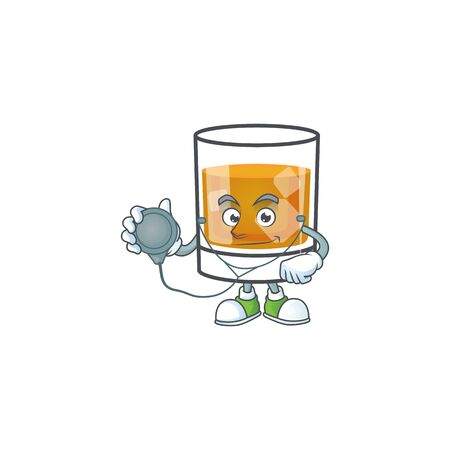 Liquor whiskey in the cartoon character doctor.
