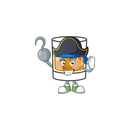 Liquor whiskey in the cartoon character pirate.