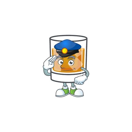 Liquor whiskey in the cartoon character police.