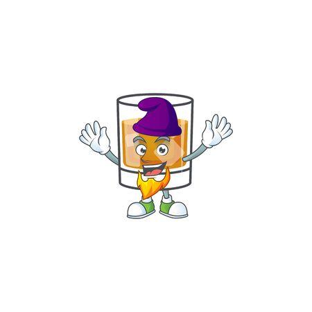 Liquor whiskey in the cartoon character elf.