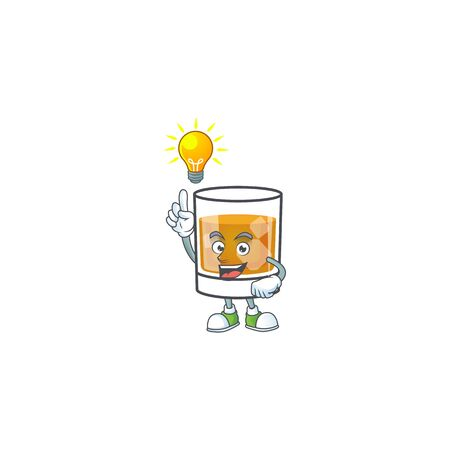 Beverage cold whiskey cartoon character isolated have an idea.