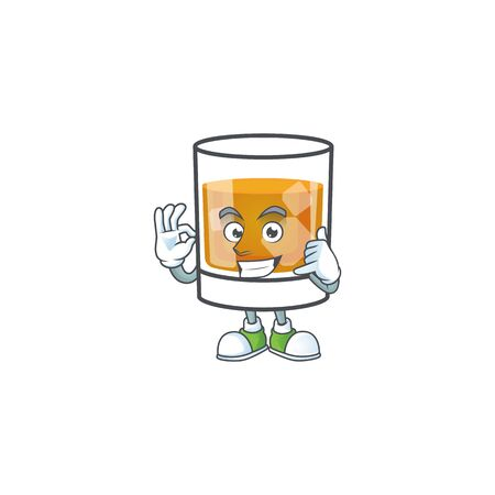 Beverage cold whiskey cartoon character isolated call me. 向量圖像