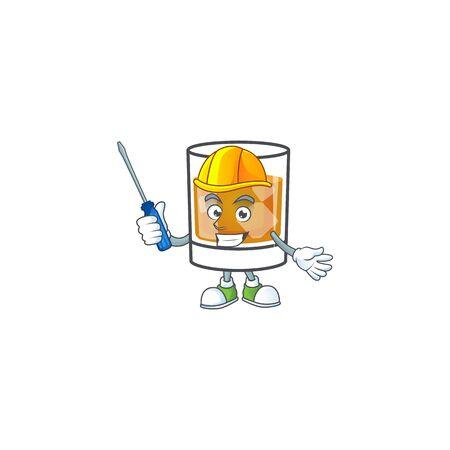 Beverage cold whiskey cartoon character isolated automotive. Ilustrace