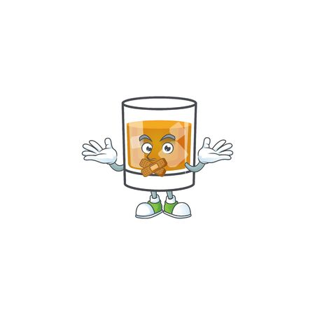 Beverage cold whiskey cartoon character isolated silent. 向量圖像