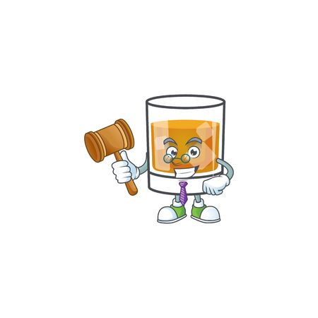 Beverage cold whiskey cartoon character isolated judge.