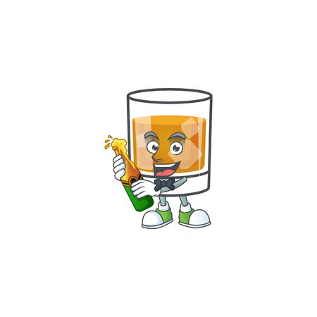 Beverage cold whiskey cartoon character isolated bring beer. Ilustrace