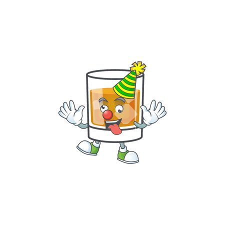 Beverage cold whiskey cartoon character isolated clown.