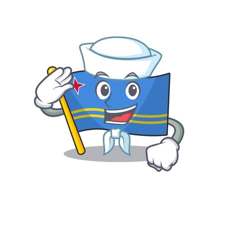 sailor flag aruba isolated with the cartoon