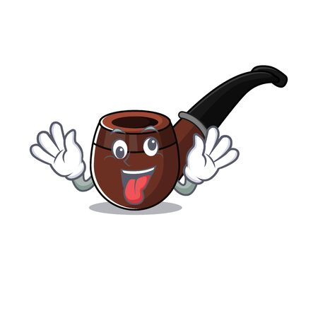 smoke pipe isolated cartoon the bring gift mascot vector ilustration