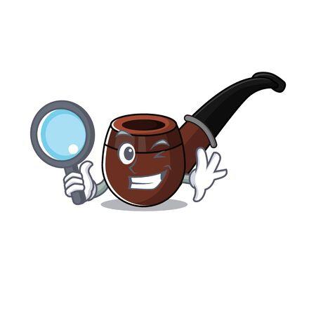 cheerful cartoon the of detective smoke pipe