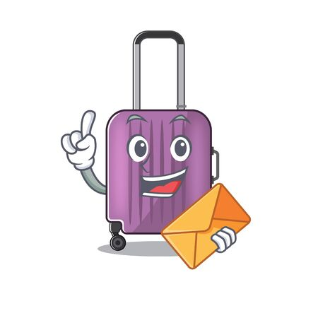 travel suitcase bring envelope isolated with the cartoon Ilustracja