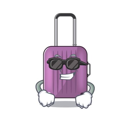 travel suitcase super cool isolated with the cartoon