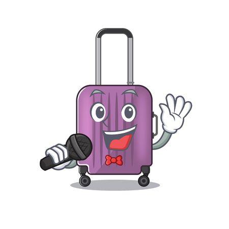 cute travel suitcase the singing mascot shape