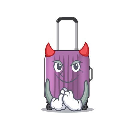 cute travel suitcase the devil mascot shape