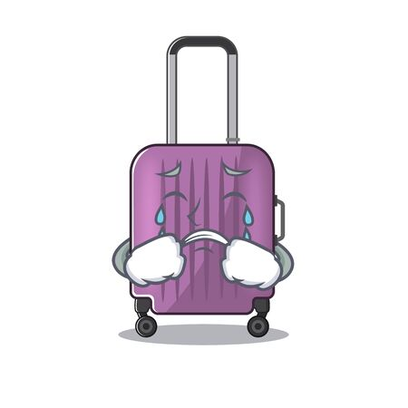 cute travel suitcase the crying mascot shape