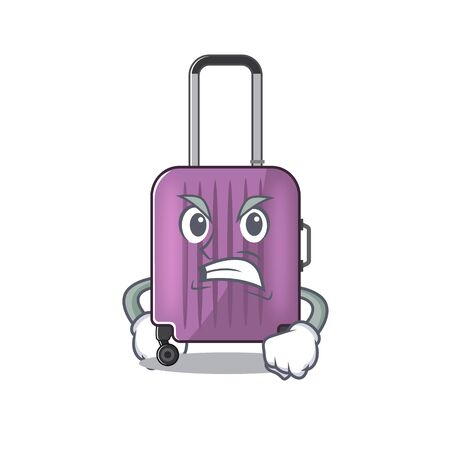cute travel suitcase the angry mascot shape