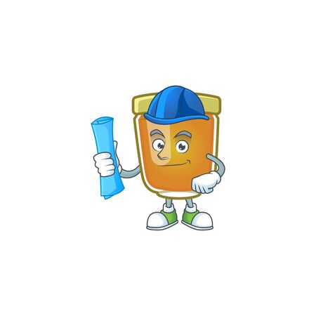 Honey in mascot architect on white background vector illustration