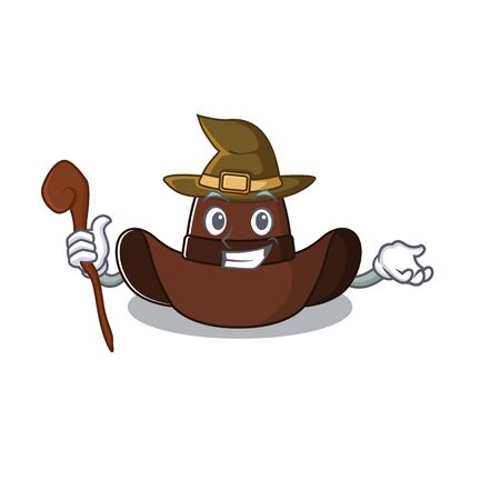 Mascot illustration the featuring cowboy hat witch