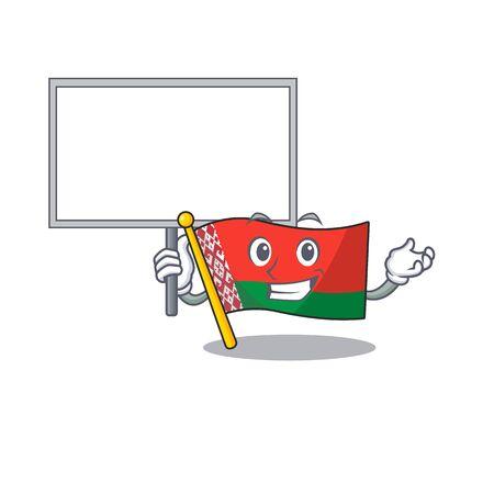 flag belarus in the cartoon shape bring board