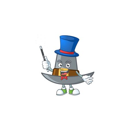 Pilgrim hat with buckle in character magician vector illustration Illustration