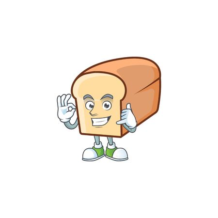Cute bread isolated of cartoon character call me.