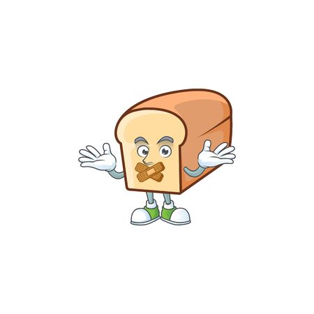 Cute bread isolated of cartoon character silent.  イラスト・ベクター素材