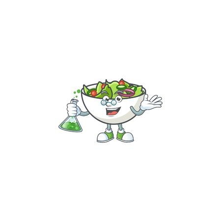 Salad of professor character in the cartoon vector illustration Ilustrace