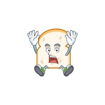 Character scream in the slice white bread vector illustration 일러스트