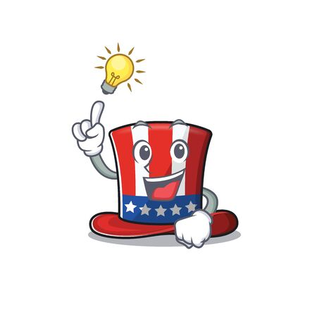 Uncle sam hat with have an idea cartoon. Vector illustration