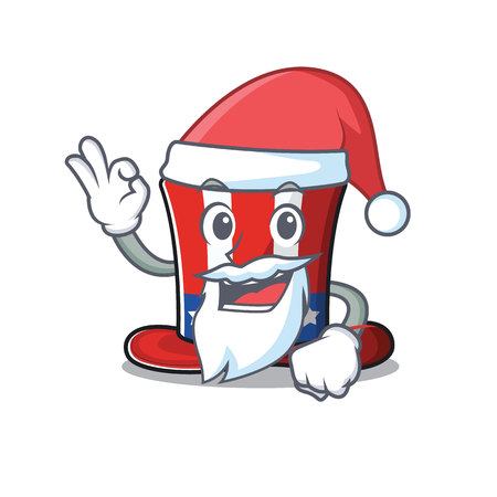 Character uncle sam hat santa claus mascot. Vector illustration Иллюстрация