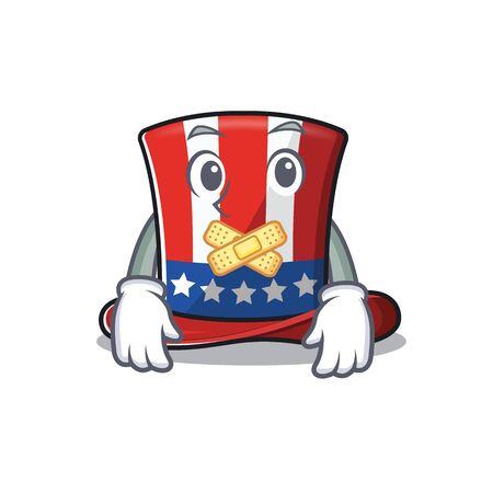 cartoon uncle sam hat with silent character Иллюстрация