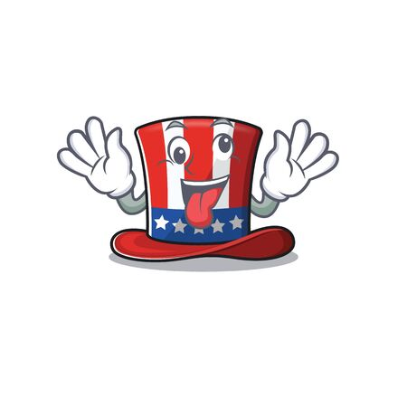 Mascot uncle sam hat crazy character