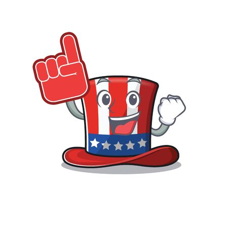 Cartoon uncle sam hat foam finger mascot