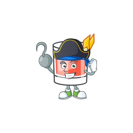 Sazerac drink in glass with character pirate. Vector illustration  イラスト・ベクター素材
