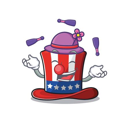 Character uncle sam hat with the juggling Иллюстрация