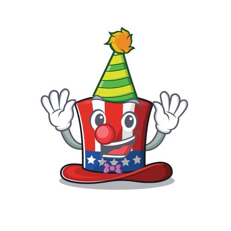 Cartoon uncle sam hat in with clown