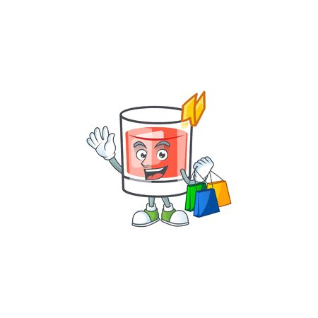 Sazerac alcohol cartoon character with shopping mascot vector illustration