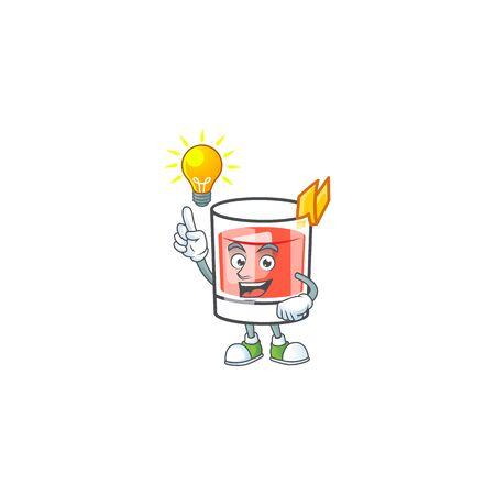 Sazerac have an idea character on the a cartoon vector illustration