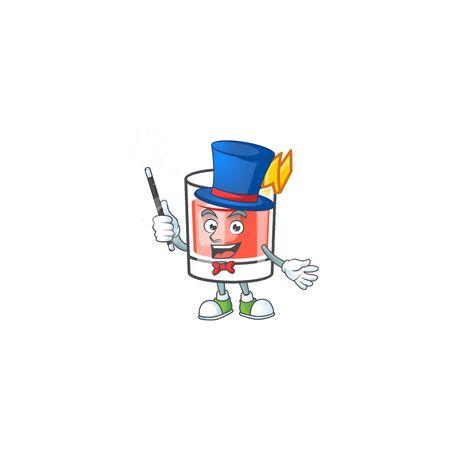 Sazerac magician character on the a cartoon vector illustration Illustration
