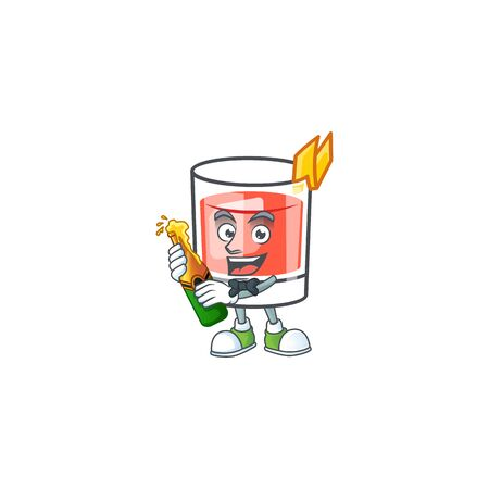 Sazerac bring beer character on the a cartoon vector illustration  イラスト・ベクター素材