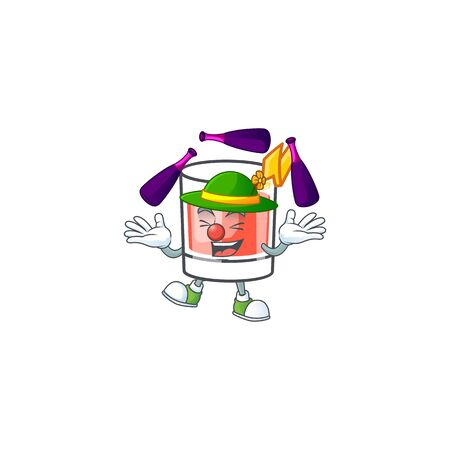 Sazerac juggling character on the a cartoon vector illustration