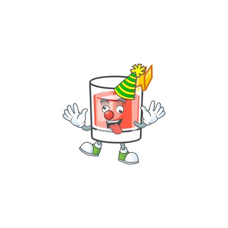 Sazerac clown character on the a cartoon vector illustration